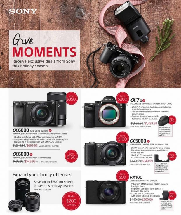 288124a4cfc $200 Off – Sony a7 II Black Friday & Cyber Monday Deals 2017 | Sony ...