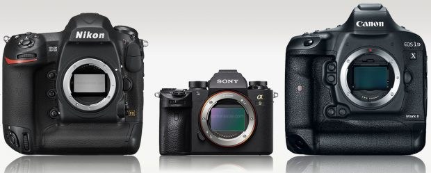 sony a9 vs nikon d5 vs canon 1d x mark ii