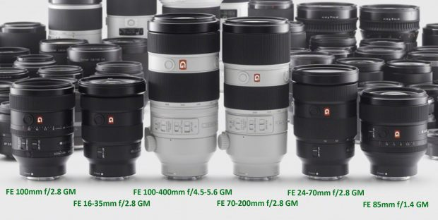 sony-fe-gm-lenses-lineup
