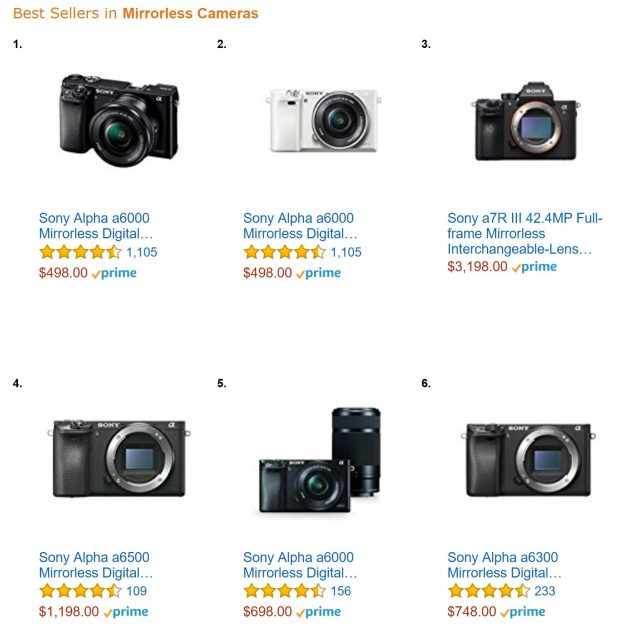 best mirrorless camera amazon