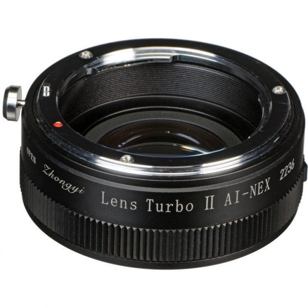 zhongyi lens turbo ii ai nex fx to e mount adapter