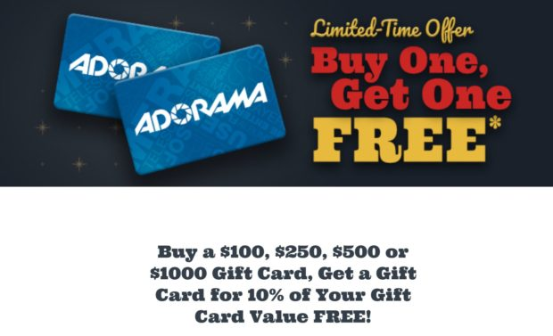 Hot Buy A Gift Card At Adorama Get 10 Of Your Gift Card Value